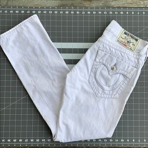 True Religion Men's White Jeans Size 32x33